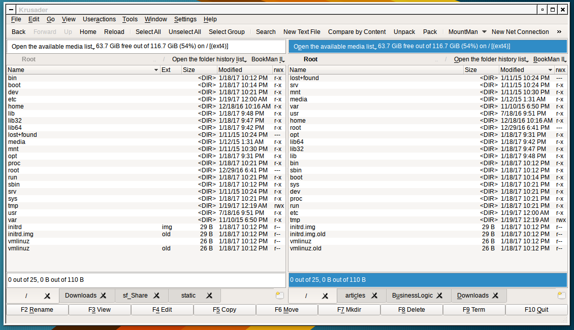 Panta's: Upgrading to Krusader 2 5 0 and KDE5 Plasma on